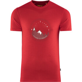 Meru Tumba Wollen T-shirt Heren, barbardos cherry